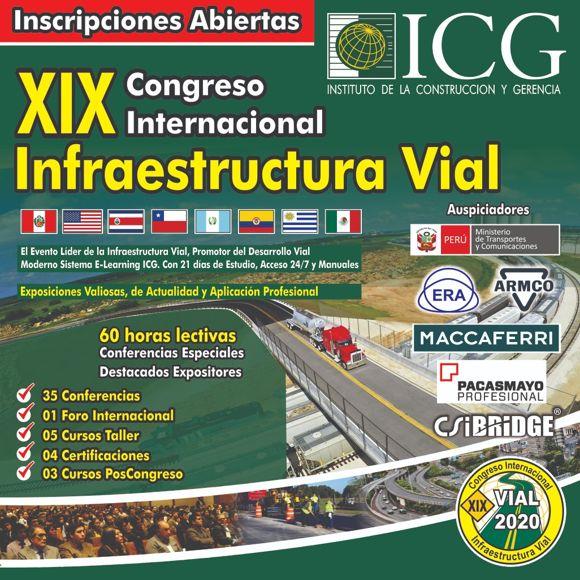 XIX Congreso Internacional Infraestructura Vial & EXPO Virtual Vial y Transporte 2020