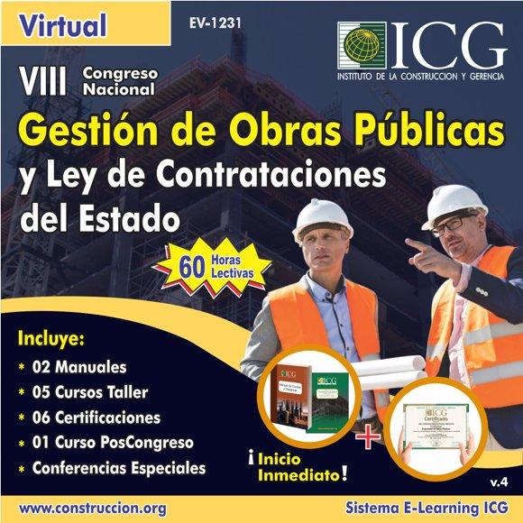 VIII Congreso Nacional Gestión de Obras Públicas y Ley de Contrataciones del Estado